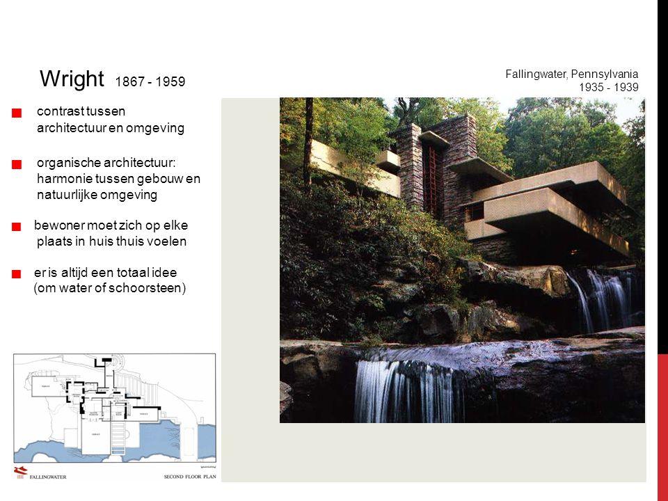 Internationale stijl Wright 1867 - 1959 architectuur en omgeving