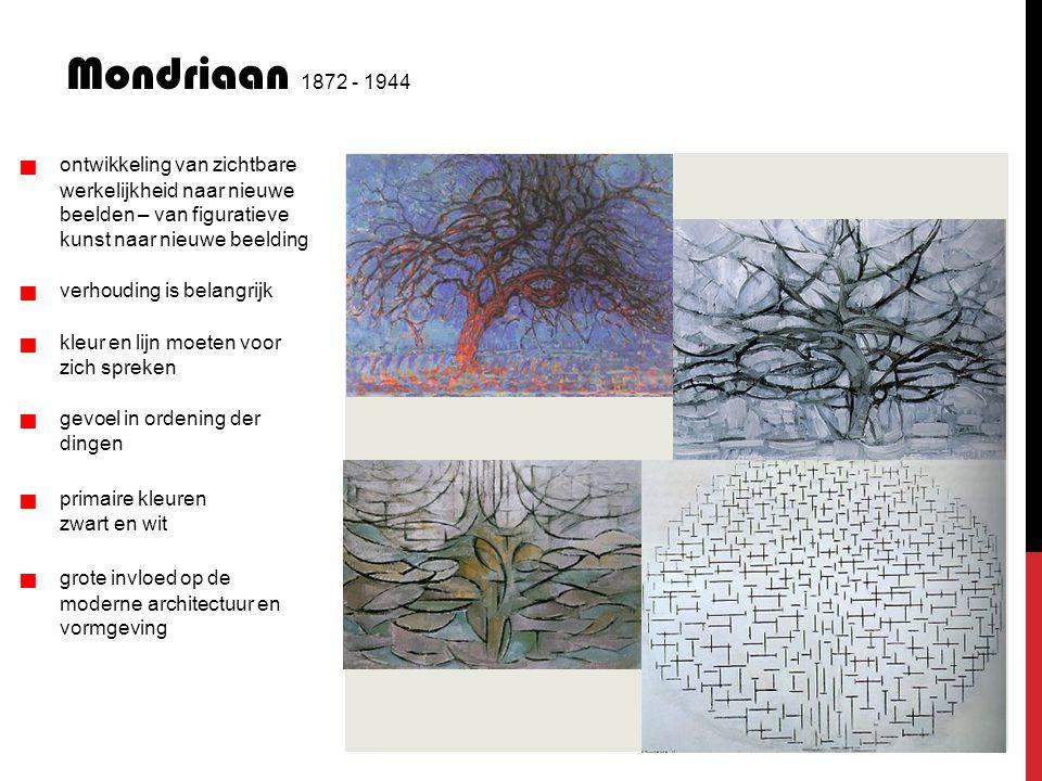 Mondriaan 1872 - 1944 werkelijkheid naar nieuwe