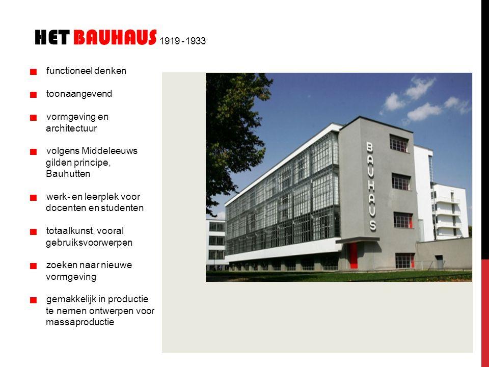Het bauhaus 1919 - 1933 architectuur gilden principe, Bauhutten