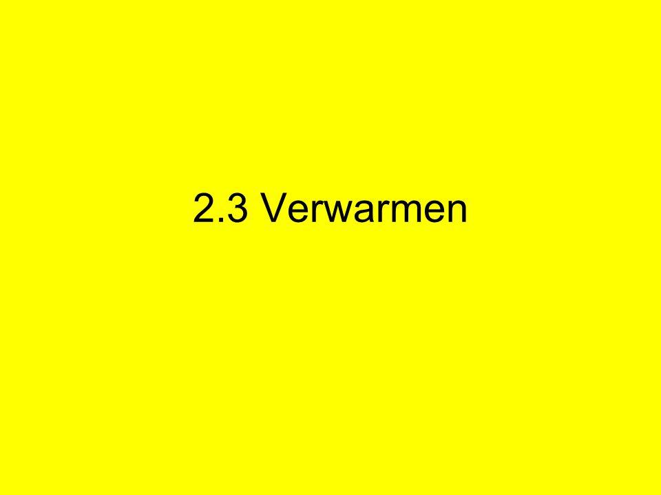 2.3 Verwarmen