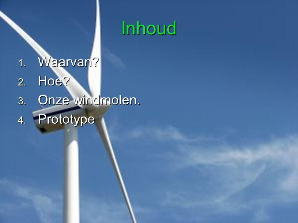 Inhoud Waarvan Hoe Onze windmolen. Prototype