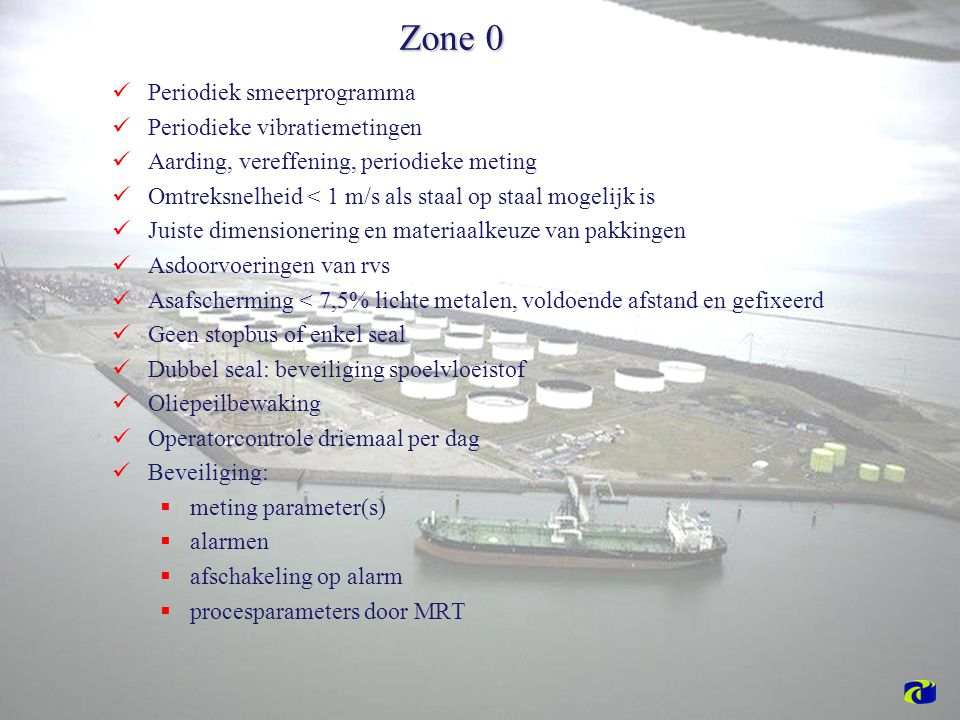 Zone 0 Periodiek smeerprogramma Periodieke vibratiemetingen