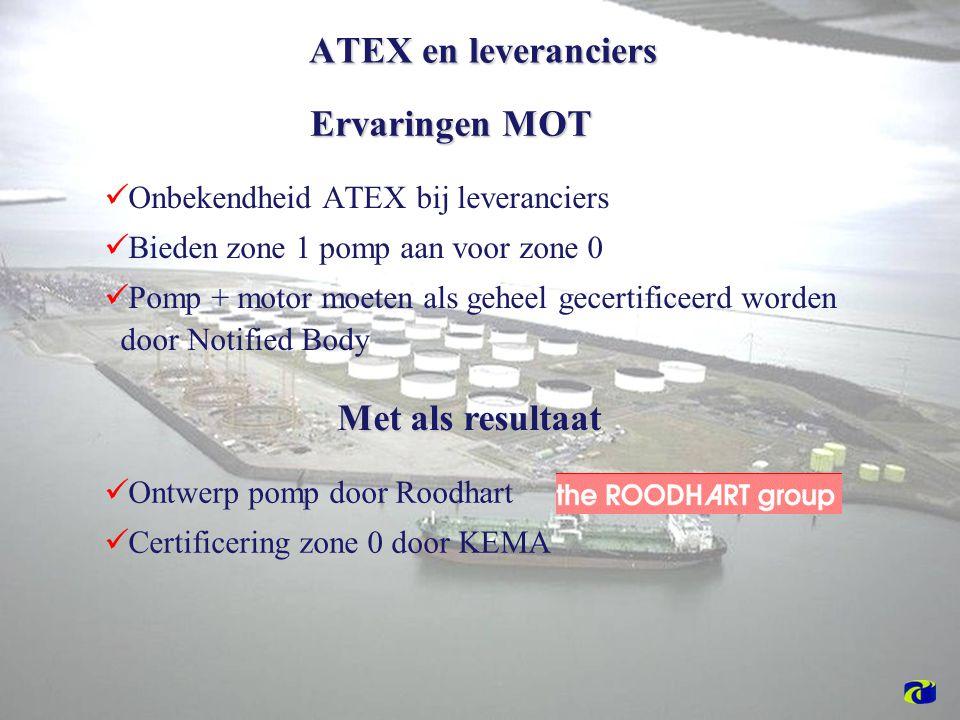 ATEX en leveranciers Ervaringen MOT Met als resultaat