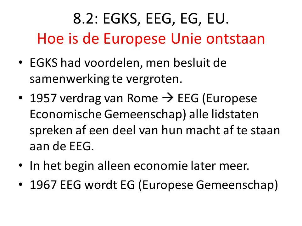 8.2: EGKS, EEG, EG, EU. Hoe is de Europese Unie ontstaan