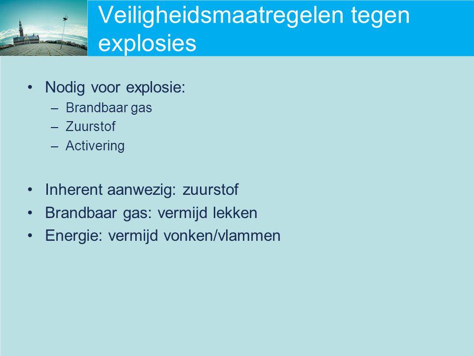 Veiligheidsmaatregelen tegen explosies