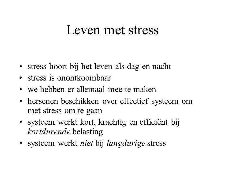 Leven met stress stress hoort bij het leven als dag en nacht