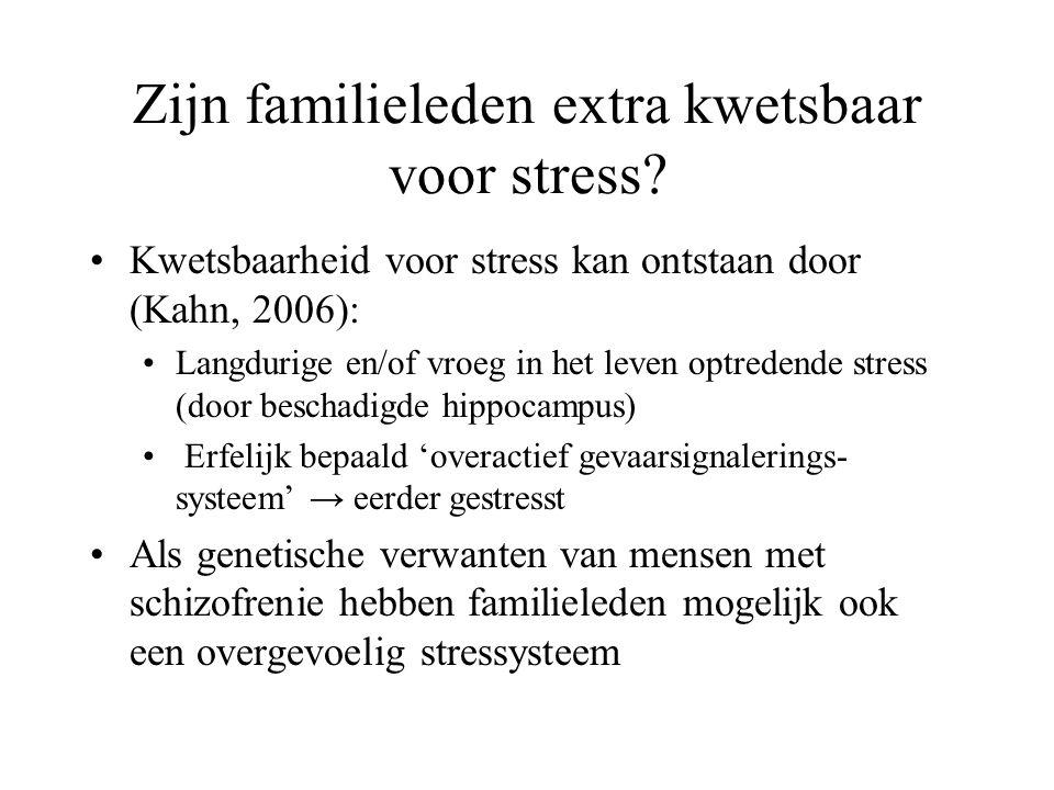 Zijn familieleden extra kwetsbaar voor stress