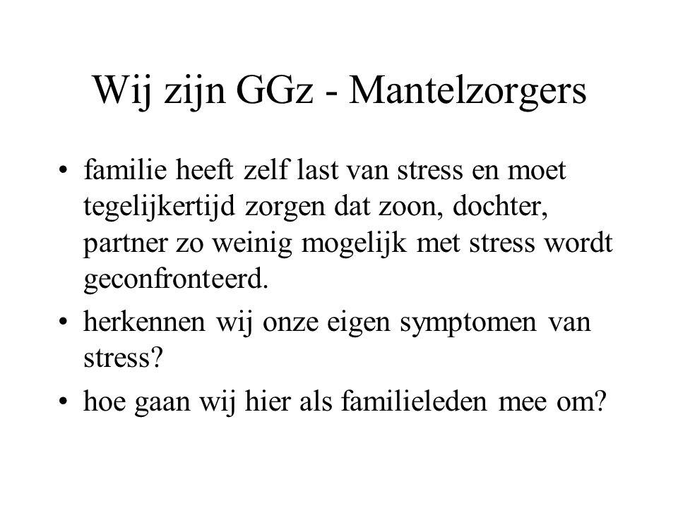 Wij zijn GGz - Mantelzorgers