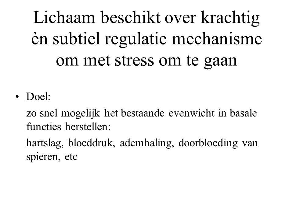 Lichaam beschikt over krachtig èn subtiel regulatie mechanisme om met stress om te gaan