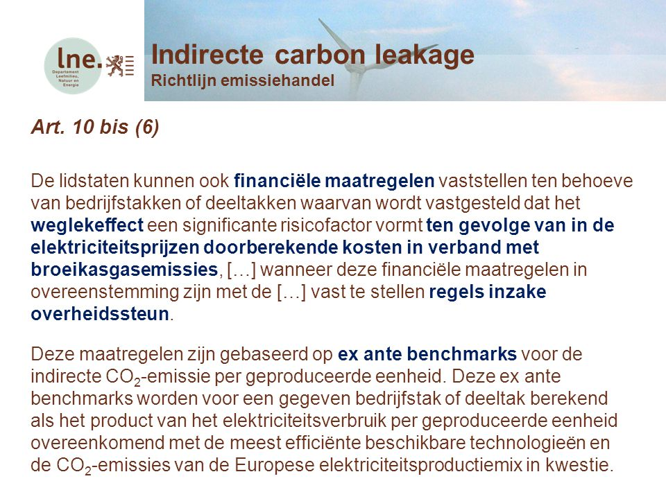 Indirecte carbon leakage