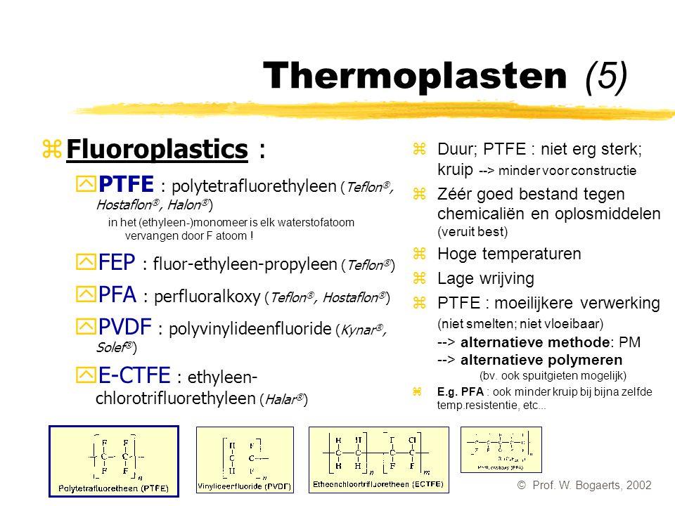 Thermoplasten (5) Fluoroplastics :