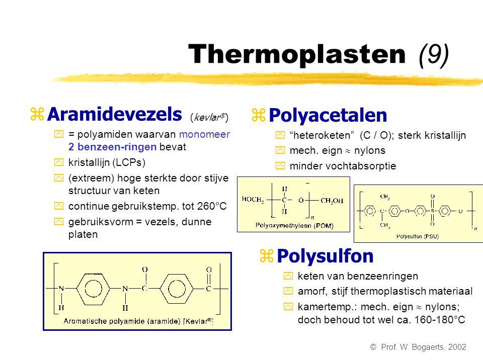Thermoplasten (9) Aramidevezels (kevlar®) Polyacetalen Polysulfon