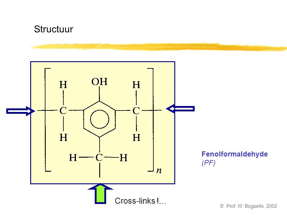 Structuur Cross-links !... Fenolformaldehyde (PF)