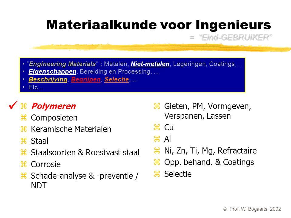 Materiaalkunde voor Ingenieurs = Eind-GEBRUIKER