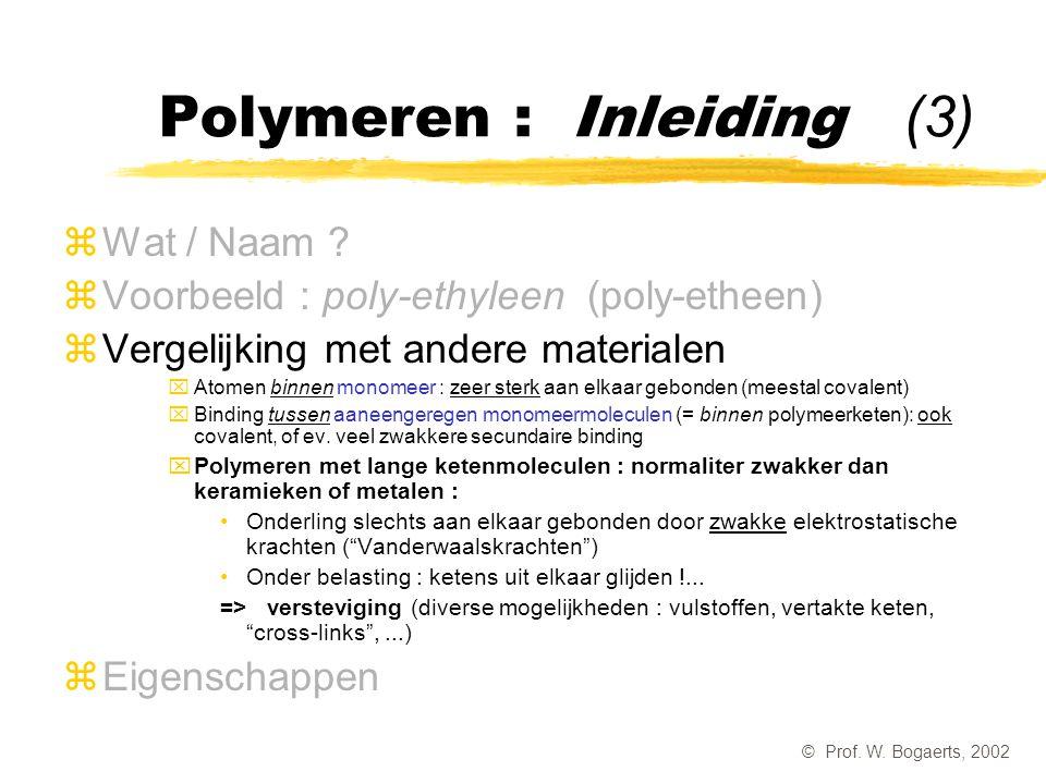 Polymeren : Inleiding (3)
