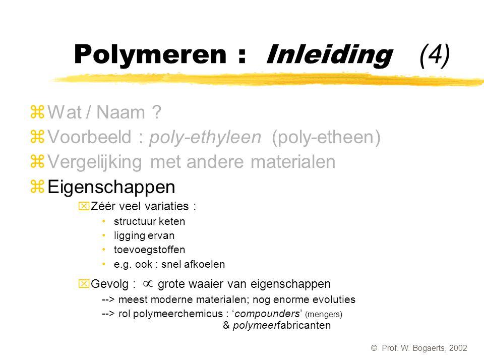 Polymeren : Inleiding (4)