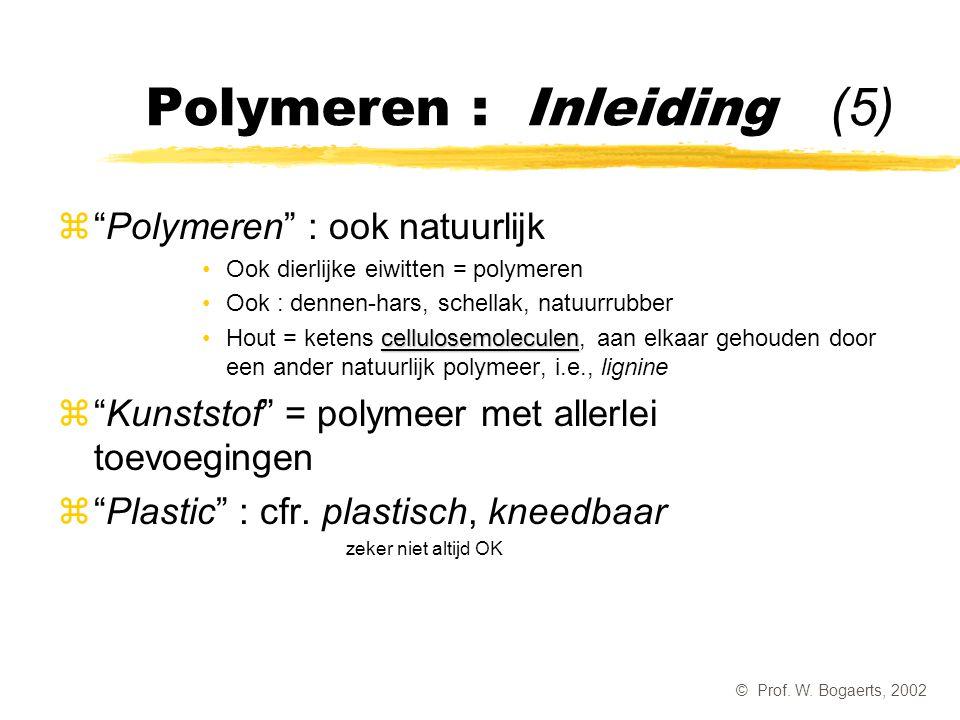 Polymeren : Inleiding (5)