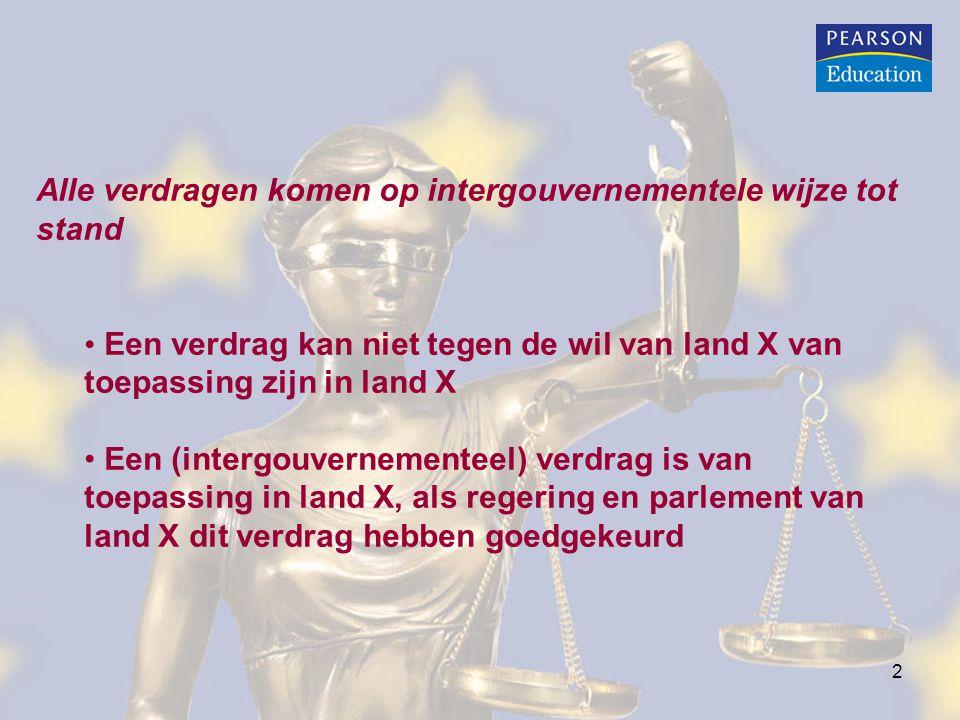 Alle verdragen komen op intergouvernementele wijze tot stand