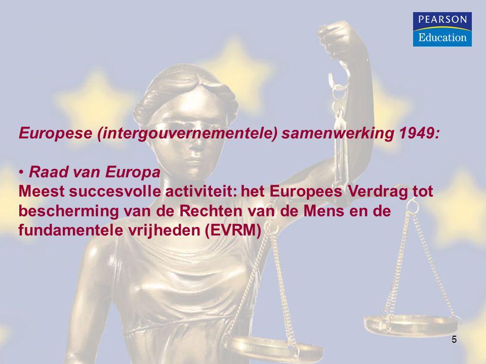 Europese (intergouvernementele) samenwerking 1949: