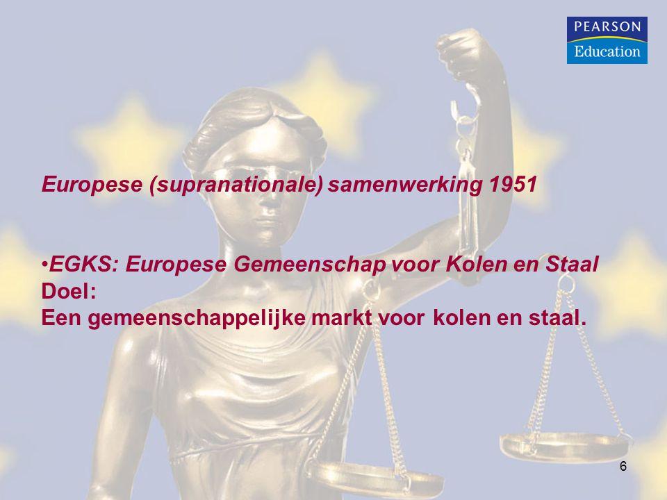 Europese (supranationale) samenwerking 1951