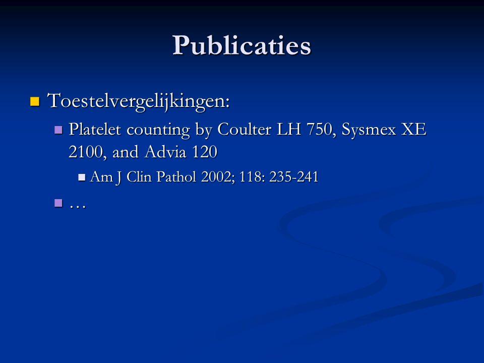 Publicaties Toestelvergelijkingen: