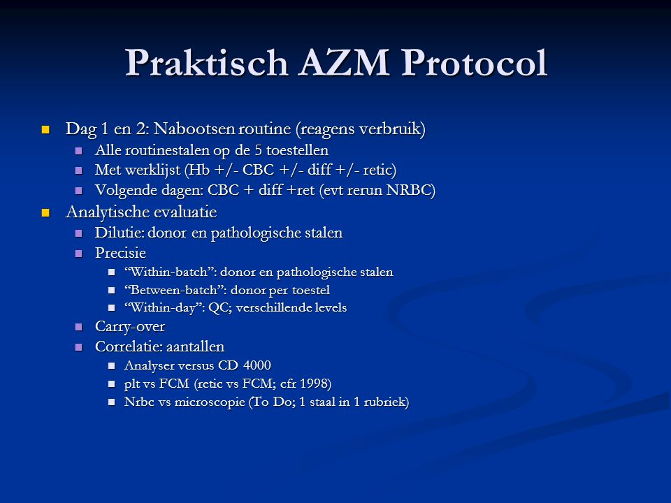 Praktisch AZM Protocol
