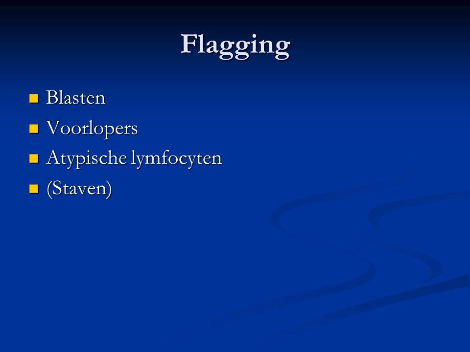 Flagging Blasten Voorlopers Atypische lymfocyten (Staven)