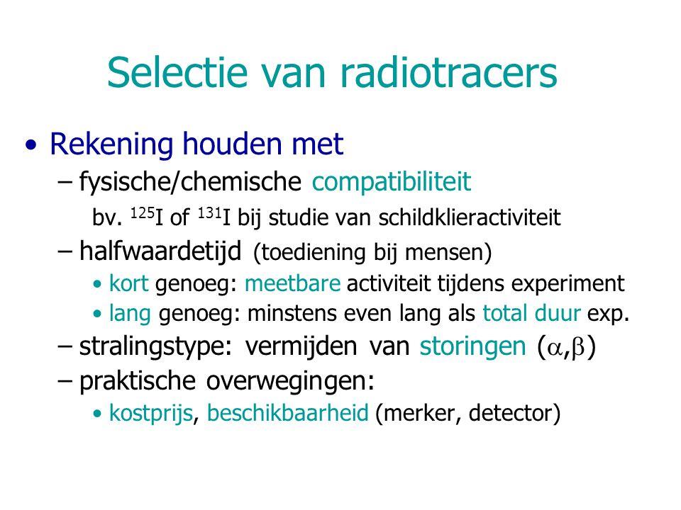 Selectie van radiotracers