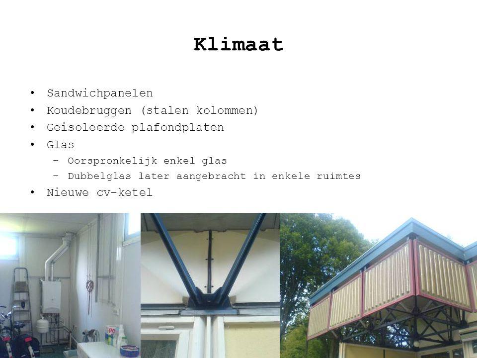 Klimaat Sandwichpanelen Koudebruggen (stalen kolommen)