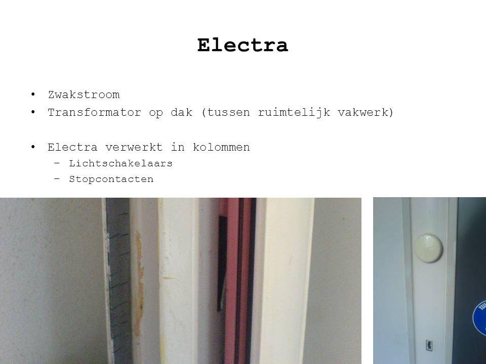 Electra Zwakstroom Transformator op dak (tussen ruimtelijk vakwerk)