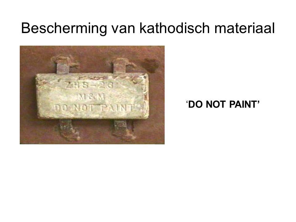 Bescherming van kathodisch materiaal
