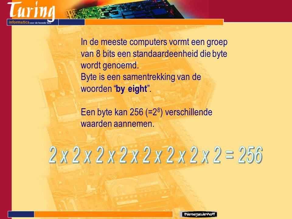 In de meeste computers vormt een groep van 8 bits een standaardeenheid die byte wordt genoemd.