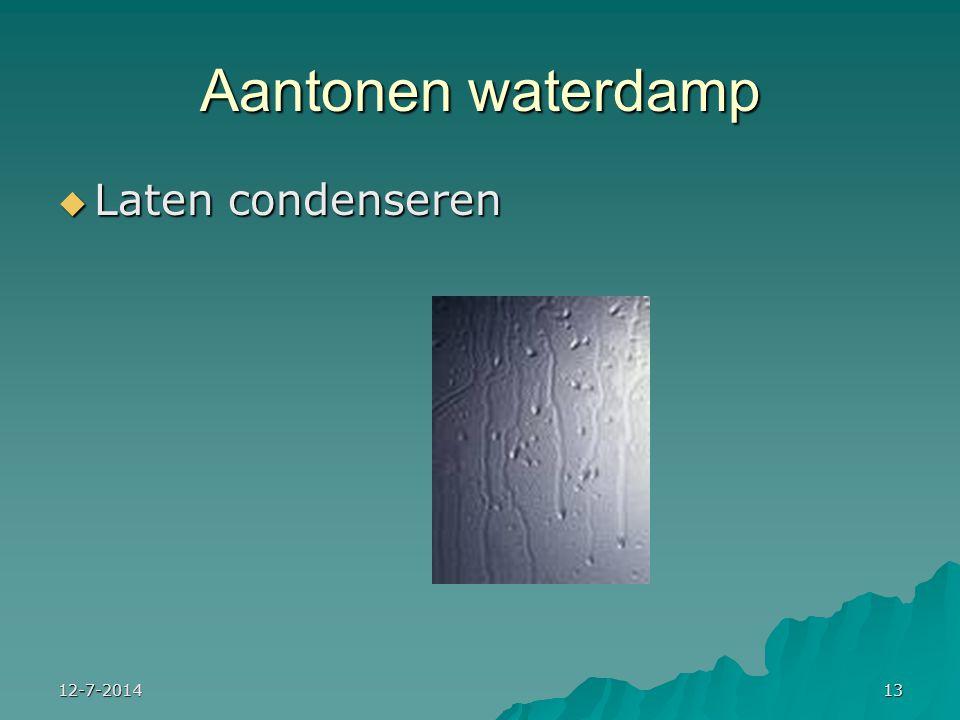 Aantonen waterdamp Laten condenseren 4-4-2017