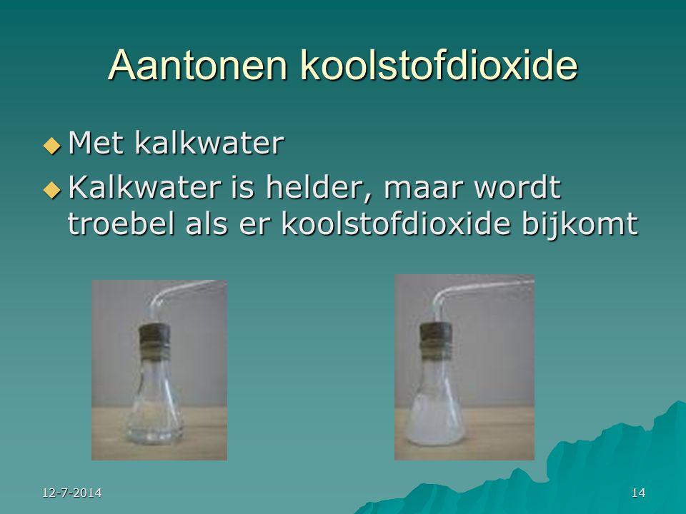 Aantonen koolstofdioxide