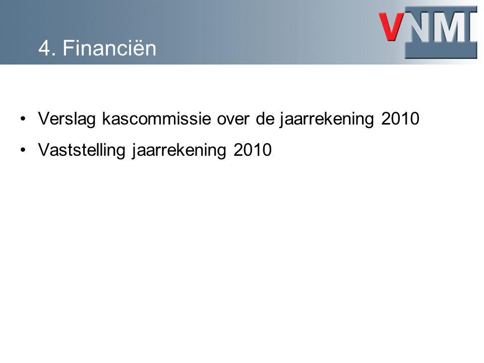 4. Financiën Verslag kascommissie over de jaarrekening 2010