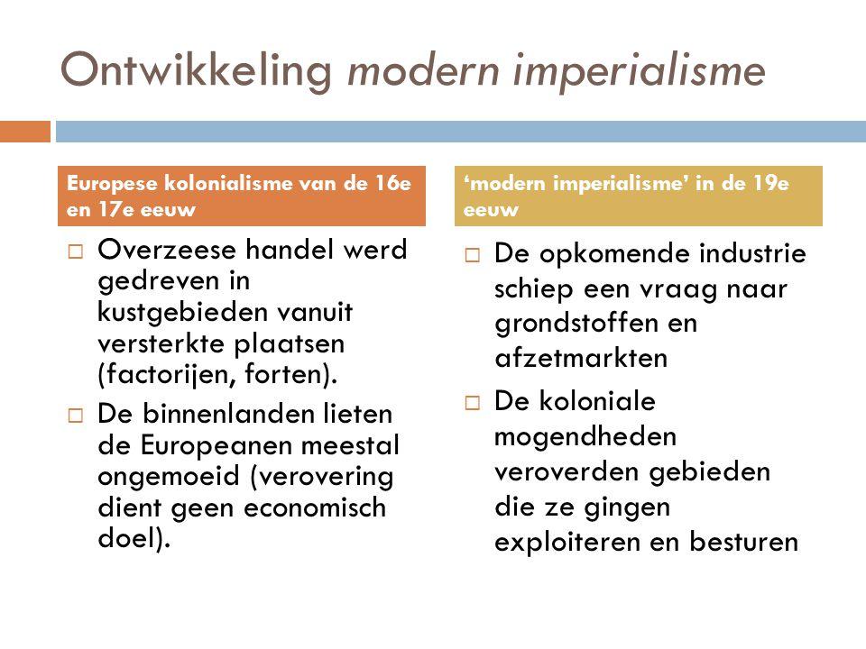 Ontwikkeling modern imperialisme