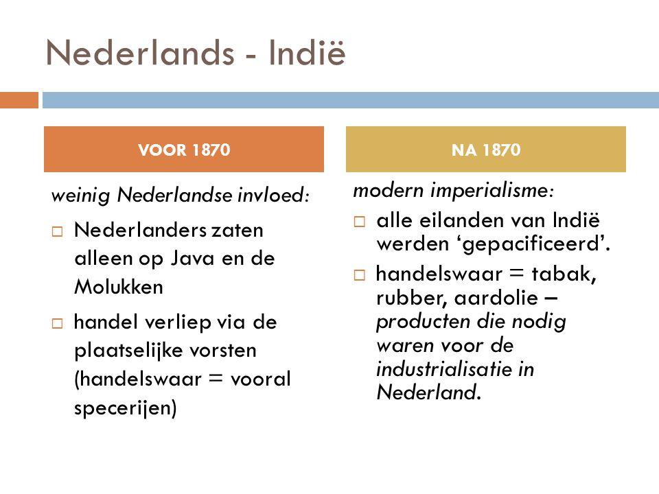 Nederlands - Indië modern imperialisme: