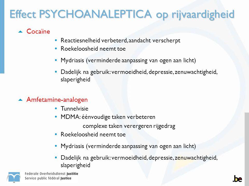 Effect PSYCHOANALEPTICA op rijvaardigheid