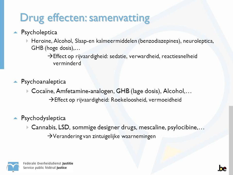 Drug effecten: samenvatting