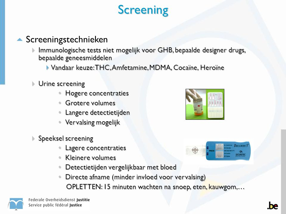 Screening Screeningstechnieken