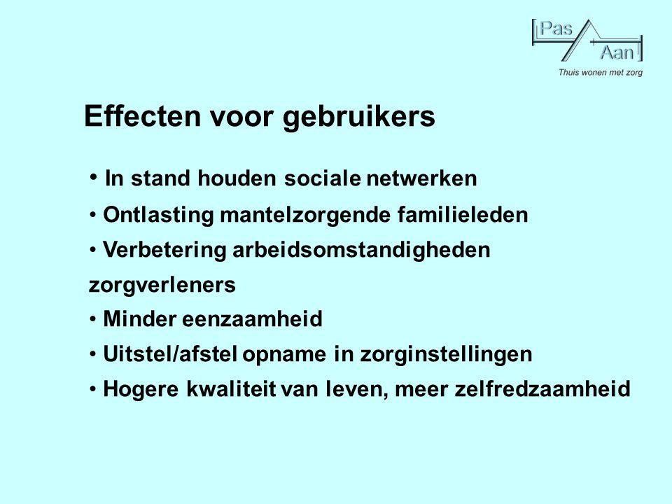Effecten voor gebruikers