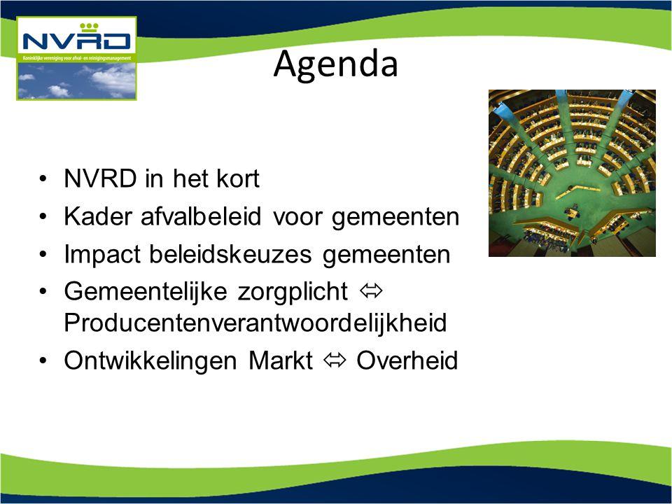 Agenda NVRD in het kort Kader afvalbeleid voor gemeenten