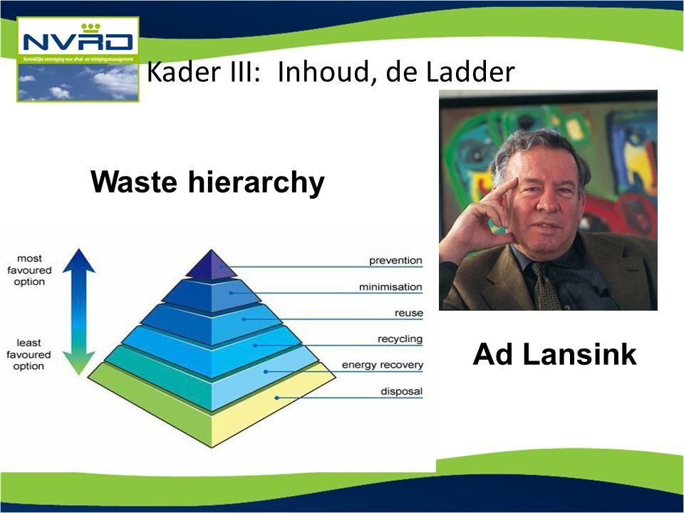 Kader III: Inhoud, de Ladder