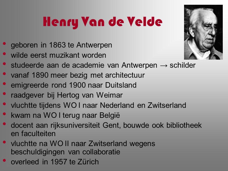 Henry Van de Velde geboren in 1863 te Antwerpen