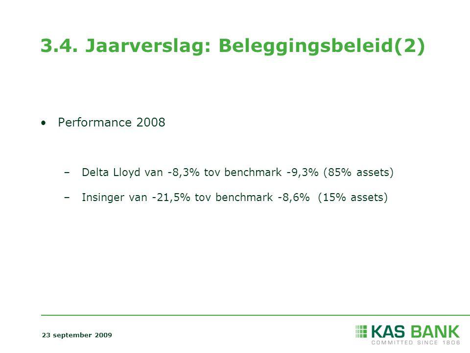 3.4. Jaarverslag: Beleggingsbeleid(2)