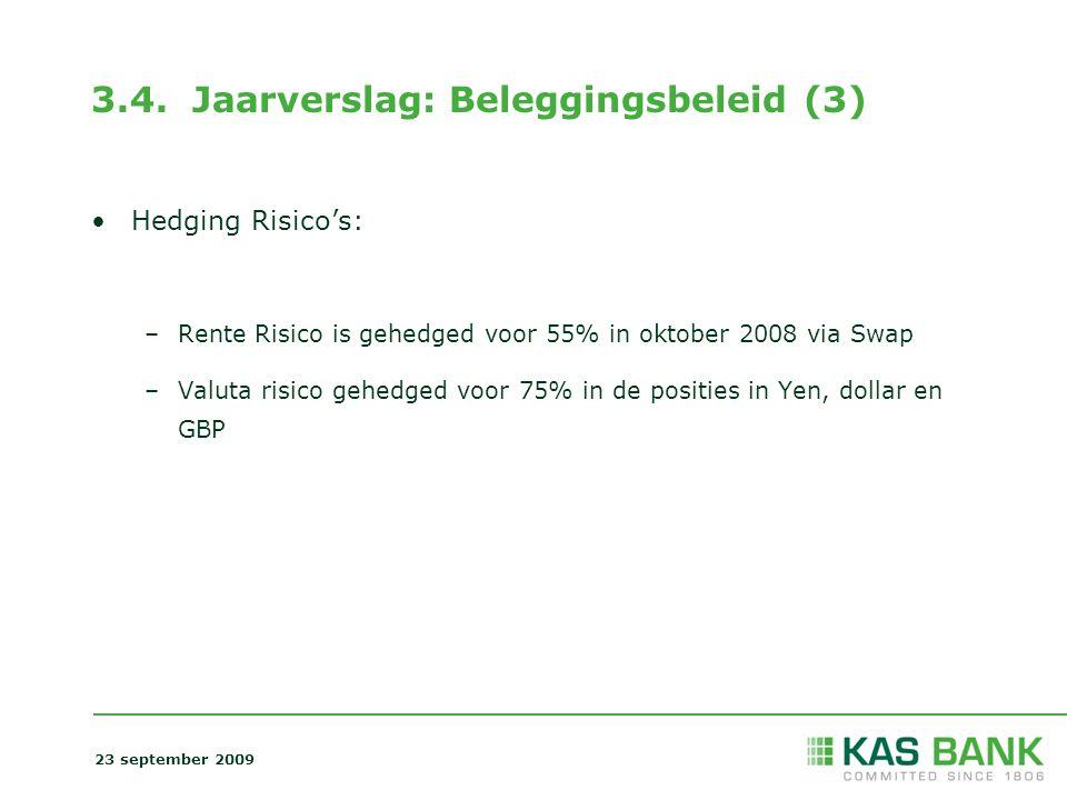 3.4. Jaarverslag: Beleggingsbeleid (3)
