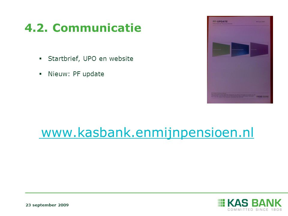 4.2. Communicatie Startbrief, UPO en website Nieuw: PF update