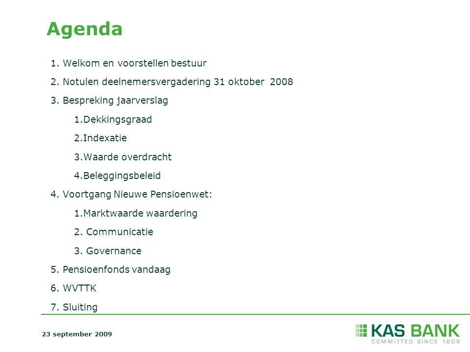 Agenda Welkom en voorstellen bestuur