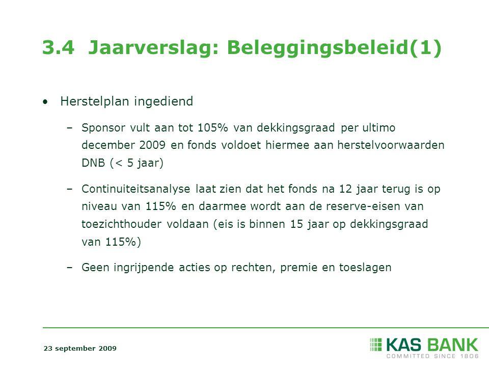 3.4 Jaarverslag: Beleggingsbeleid(1)