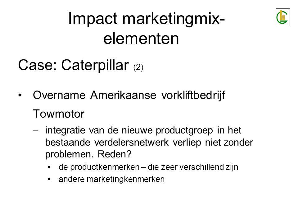 Impact marketingmix-elementen